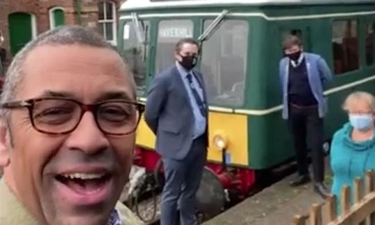 James Cleverly at the Colne Valley Railway