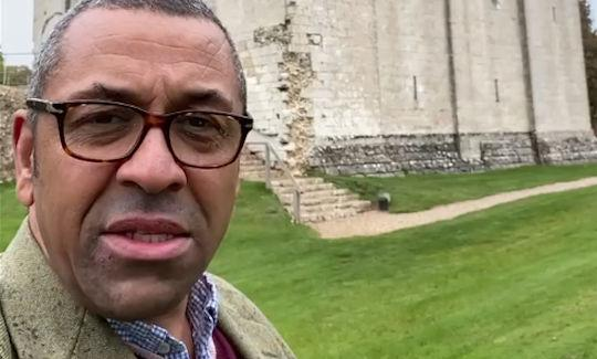 James Cleverly at Hedingham Castle