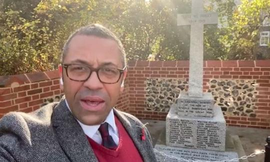 James Cleverly in Steeple Bumpstead